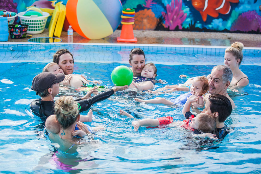 Ginas learn to swim small group class